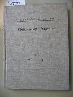 Physiognomische Fragmente, zur Beförderung der Menschenkenntnis und Menschenliebe. - Dritter ...