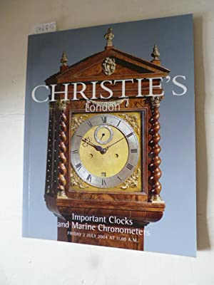 Christie's London Important Clocks & Marine Chronometers - Auction Catalog Friday 2 July 2004