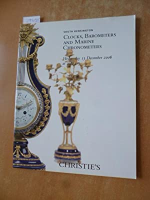 Christie's London Clocks, Barometers and Marine Chronometers - Auction Catalog Wednesday 13 Decem...