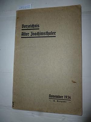 Verzeichnis alter Joachimsthaler - November 1934 - 13. Ausgabe: Diverse