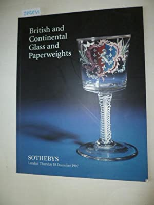 British and Continental Glass and Paperweights, 18th December 1997