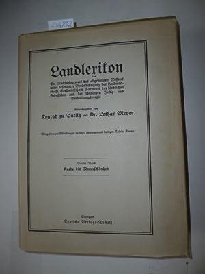 Landlexikon. Ein Nachschlagewerk des allgemeinen Wissens unter: Konrad zu Putlitz