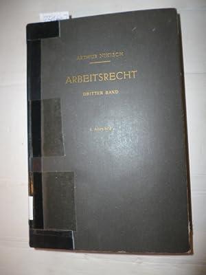 Arbeitsrecht. 3. Band: Betriebsverfassungsrecht: Nikisch, Arthur