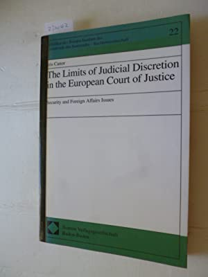 The limits of judicial discretion in the: Canor, Iris