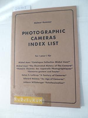 Photographic Cameras Index List: Für Michel Auer: Helmut Kummer