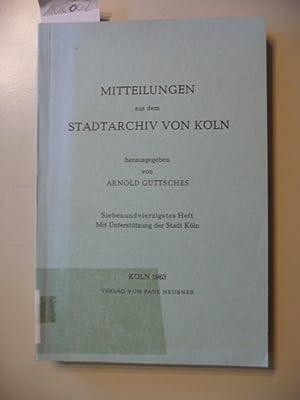 Nachlässe und Sammlungen, Verbands- und Vereins-, Familien- und Firmenarchive im Stadtarchiv K...