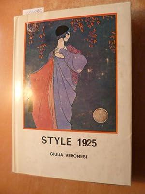 Style 1925 - Triomphe et chute des: VERONESI Giulia
