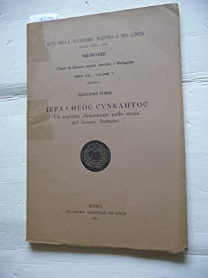 IEPA E OEOC CVNKAHTOC: UN CAPITOLO DIMENTICATO: Giovanni. FORNI
