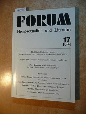 Forum Homosexualität und Literatur. Heft 17.: Wolfgang Popp, u.a.