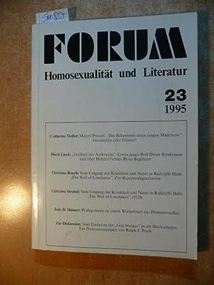 Forum Homosexualität und Literatur. Heft 23.: Wolfgang Popp, u.a.
