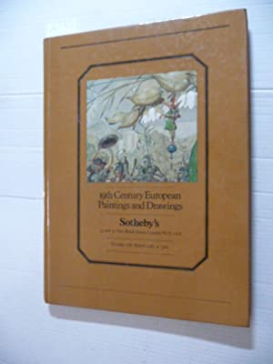 Sothebys Nineteenth Century European Paintings an Drawings 1983 - tuesday 15th March