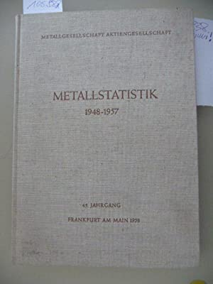 Statistiche Zusammenstellungen über Aluminium, Blei, Kupfer, Zink, Zinn, Kadmium, Magnesium, ...