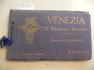 IL PALAZZO DUCALE DI VENEZIA - Serie 1a - Quadri - 20 Cartoline: Fotografia) Anderson