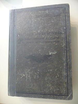 Stationsverzeichnis der Eisenbahnen Europas (mit Ausnahme der Eisenbahnen Großbritanniens, ...