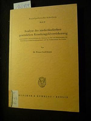 Sozialpolitische Schriften ; H. 30 Analyse der niederländischen gesetzlichen ...