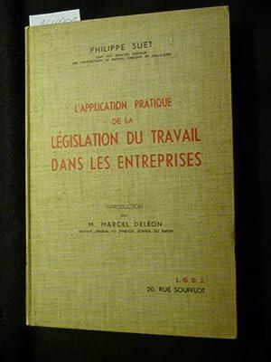 L'application pratique de la législation du travail dans les entreprises: Philippe Suet