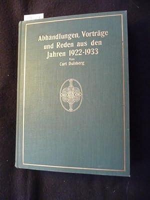 Abhandlungen, Vorträge und Reden aus den Jahren 1922-1931. Hrsg. zum 50jährigen Gesch&...