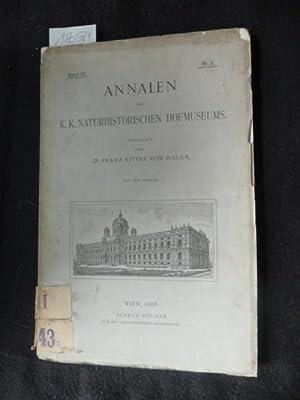 Annalen des k.k. Naturhistorischen Hofmuseums - Band III. - Nr. 1: Hauer, Dr. Franz Ritter von (...