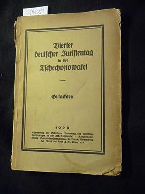 Vierter deutscher Juristentag in der Tschechoslowakei - Gutachten: Diverse