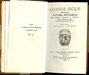 Aloisiae Sigeae. Toletanae satyra sotadica de arcanis: Chorier, Nicolao.