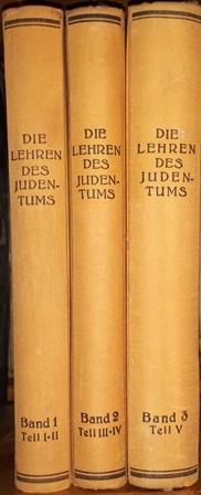 Die Lehren des Judentums nach den Quellen.: Baeck, L. /