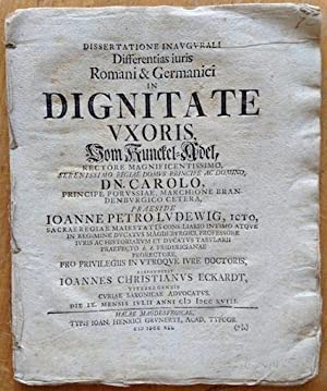 Differentias juris Romani & Germanici in dignitate: LUDEWIG, Johann Peter