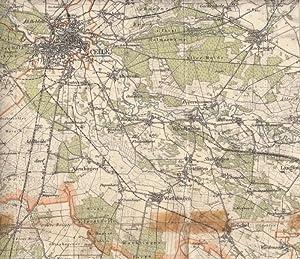 Reichskarte Umgebung von Hannover mit den Stadtkreisen