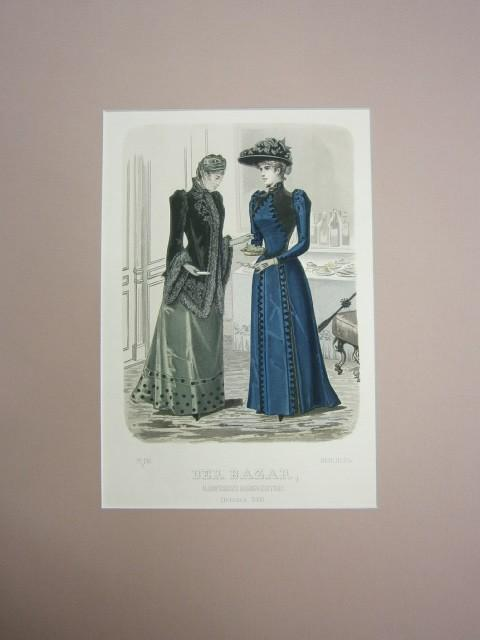 Der Bazar. Illustrirte Damen-Zeitung. October 1890. Modeblatt