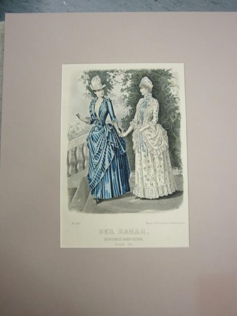 Der Bazar. Illustrirte Damen-Zeitung. August 1887. Modeblatt