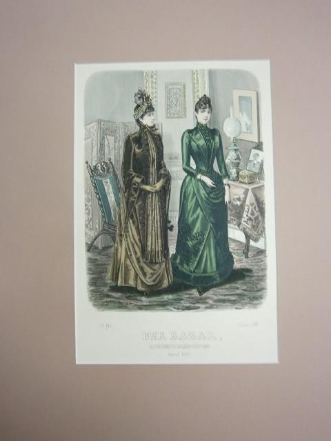 Der Bazar. Illustrirte Damen-Zeitung. März 1889. Modeblatt