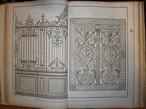 Serrurier.- Serrurerie. (Schlosser. Schlosserei). 57 Kupfertafeln, gezeichnet: Schlosserei, Schlosserhandwerk, Schlosserarbeit