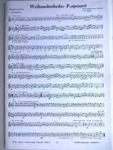 Weihnachtslieder Blasorchester.Weihnachtslieder Potpourri