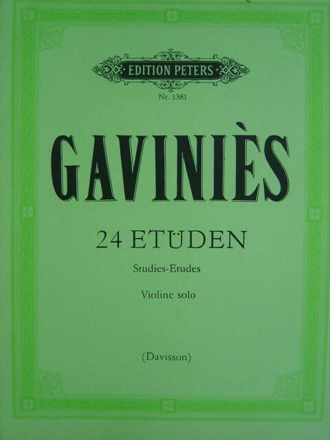 Gavinies Pierre  24 Studies  Violin solo  edited by Ivan Galamian  International Edition