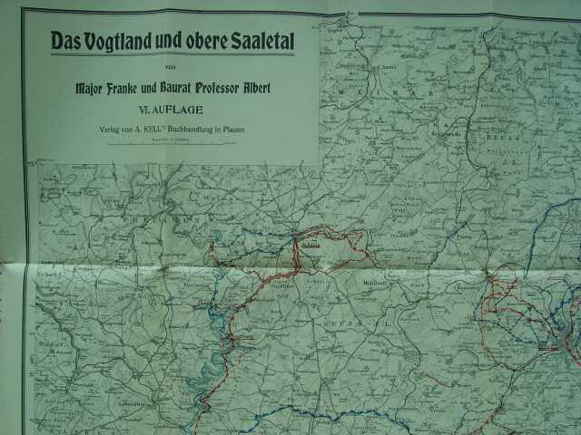 Das Vogtland Und Obere Saaletal Karte Von Major Franke Und Baurat