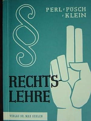 Rechtslehre.: Perl, Johannes /