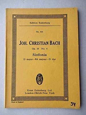 Sinfonia D major - Re majeur -: Bach, Johann Christian.