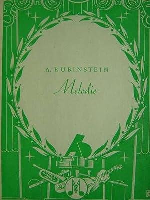 Melodie. Op. 3. Ausgabe für Klavier zu: Rubinstein, Anton.