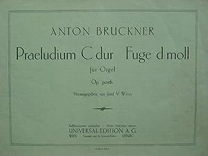 Praeludium C dur / Fuge d moll.: Bruckner, Anton.