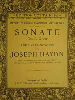 Sonate Nr.13. D dur / D major.: Haydn, Joseph.