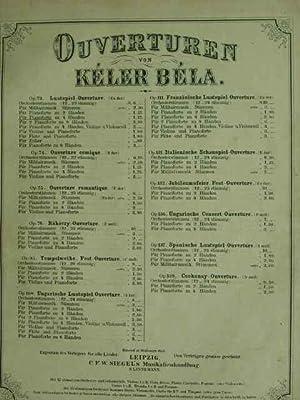 Lustspiel-Ouverture. Es dur. op. 73. Für Pianoforte: Keler Bela.