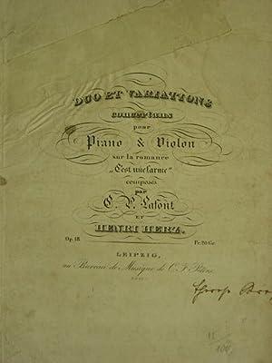 Duo et Variations concertans pour Piano &: Lafont C. P.