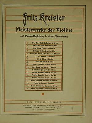 Rondino über ein Thema von Beethoven. Hier: Kreisler, Fritz.