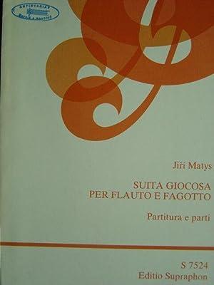 Suita giocosa per flauto e fagotto. Partitura e parti. / 3 Stimmhefte: Partitur (ungeheftet), ...