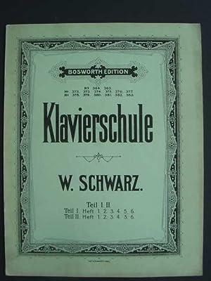 Grosse theoretisch-praktische Klavier-Schule in 2 Bänden. Vom: Schwarz, W.