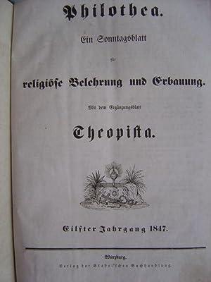 Ein Sonntagsblatt für religiöse Belehrung und Erbauung. Eilfter Jahrgang 1847. 52 eingebundene ...
