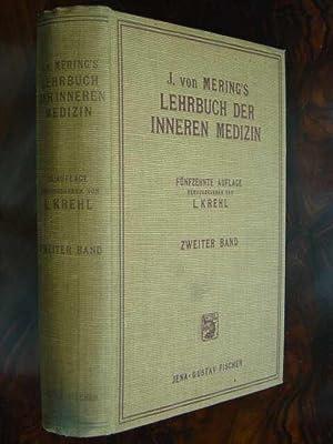 J. von Mering's Lehrbuch der Inneren Medizin.: Krehl, L. (Hrsg.).