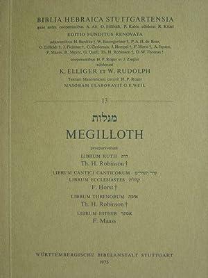 Megilloth. Hier: Buch 13. In hebräischer Sprache.: Elliger, K. und