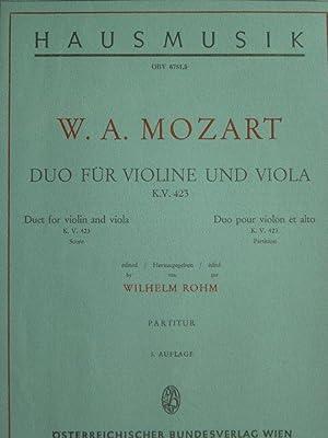 Duo für Violine und Viola. KV 423.: Mozart, Wolfgang Amadeus.