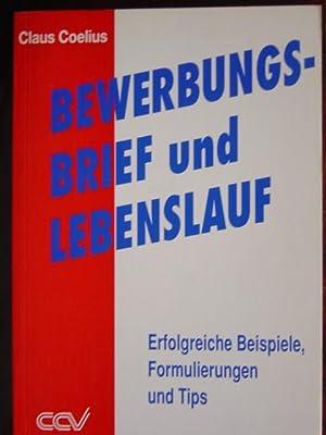 9783923930111: Bewerbungsbrief Und Lebenslauf. - Abebooks