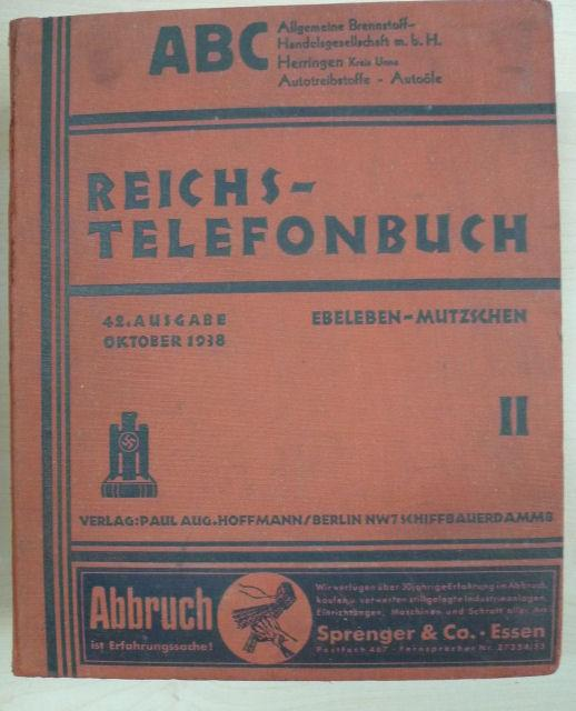 Reichs-Telefonbuch. Telephon-Adressbuch für das Deutsche Reich. Band